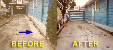 driveways before after